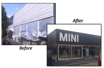 Shop Front Spraying Truro